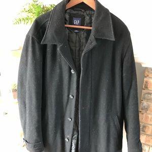 Gap - men's black wool dress coat